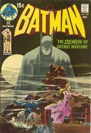 An example of Batman's return to a more gothic atmosphere during the 1970s. Batman #227 (December 1970). Art by Neal Adams.