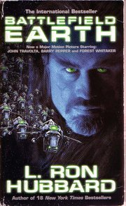 Cover of the novel Battlefield Earth intended to promote the movie