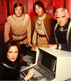 Promotional shot for the 1978 Battlestar Galactica televison series