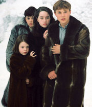 The Pevensie children in the film version of The Lion, The Witch, and the Wardrobe