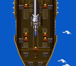 Airships have appeared in every Final Fantasy game (Final Fantasy IV shown).