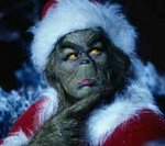 Jim Carrey as the Grinch.