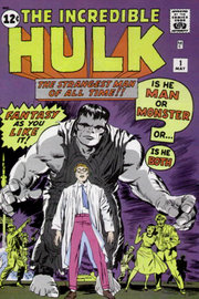 The Incredible Hulk #1 (May 1962): Cover art by Jack Kirby and Paul Reinman.