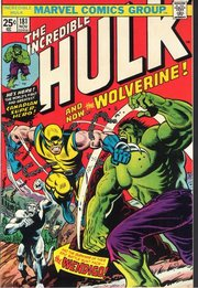 Cover of The Incredible Hulk #181, featuring the first full appearance of the popular X-Man Wolverine.