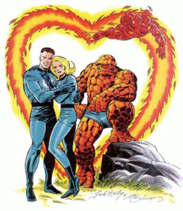 The Fantastic Four, one of Kirby's most famous co-creations.