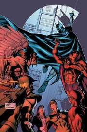 Cover to JLA #115, the start of the Crisis of Conscience arc. Art by Rags Morales.