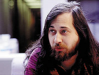 Richard Stallman, founder of the GNU project for a free operating-system.