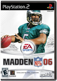 Cover of the PlayStation 2 version of Madden 06.
