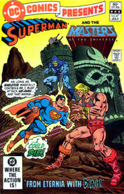 Superman and He-Man come face-to-face.