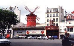 The Moulin Rouge on Boulevard de Clichy (Paris, France)