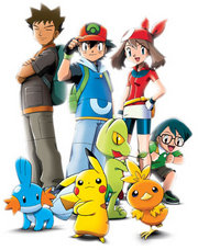 The main characters of the Advanced Generation anime.