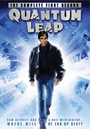 The front cover of the DVD of the first season of Quantum Leap.