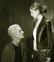 James Marsters as Spike and Sarah Michelle Gellar as Buffy in season six of Buffy the Vampire Slayer © 2001 20th Century Fox Television