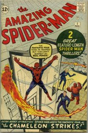 The Amazing Spider-Man #1 (March 1963). Cover art by Jack Kirby (penciler) and Steve Ditko (inker).