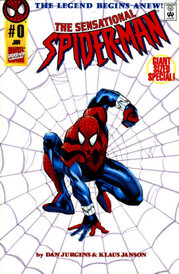 Ben Reilly as Spider-Man, showing his version of the costume.