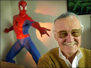 Stan Lee and his most famous creation, Spider-Man.