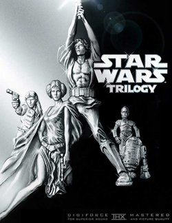 The cover of the 2004 DVD widescreen release of the original Star Wars Trilogy.