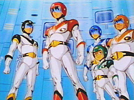 Original Voltron team. From left to right: Sven, Keith, Lance, Pidge, and Hunk