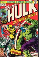 Cover of Incredible Hulk #181, featuring Wolverine's first full appearance