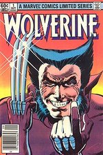 The first issue of the 1980s Wolverine mini-series. Art by Frank Miller.