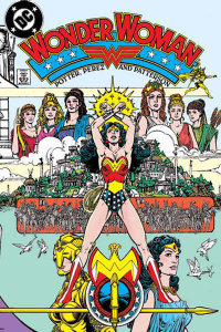 Cover to Wonder Woman: Gods and Mortals TPB. Art originally from the cover to Wonder Woman (v2) #1, by George Perez.